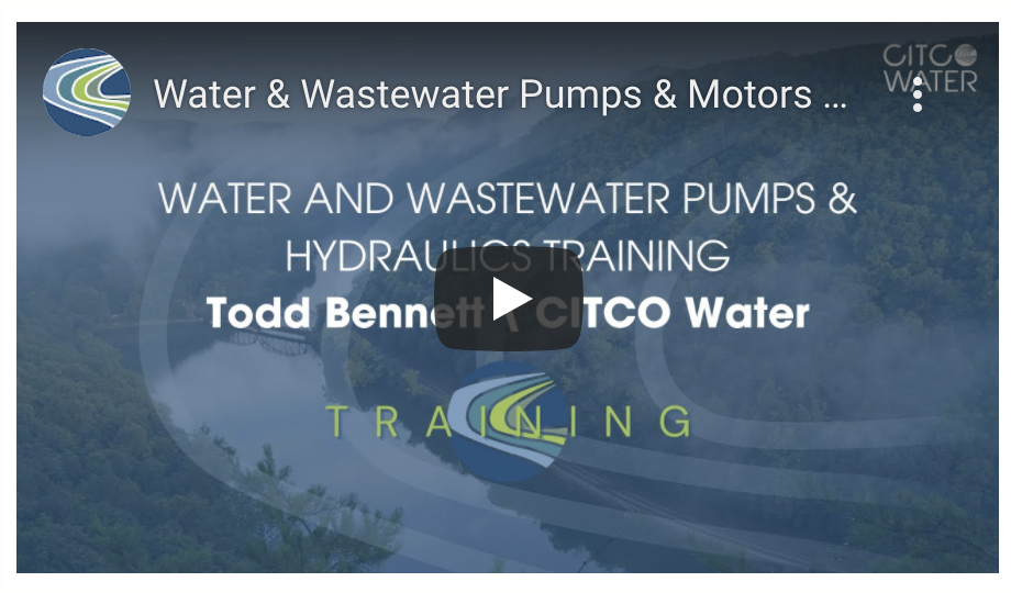 Waste and Wastewater Pumps and Motors Hydraulics Training